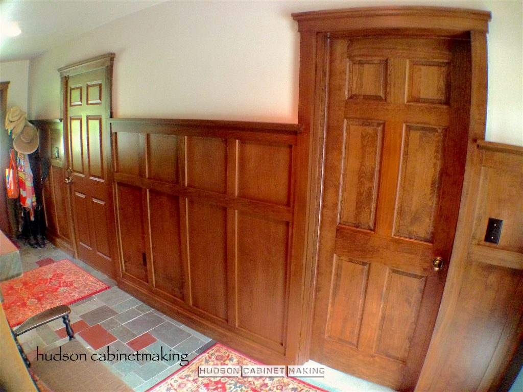 tall, wainscot with matching doors