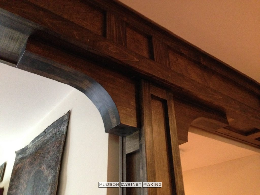 ceiling beams with column wrap