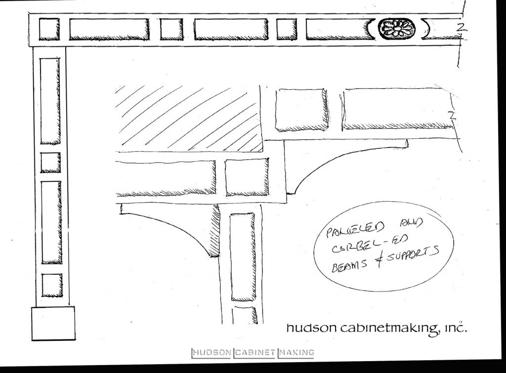 Ceiling Beam Designs sketches