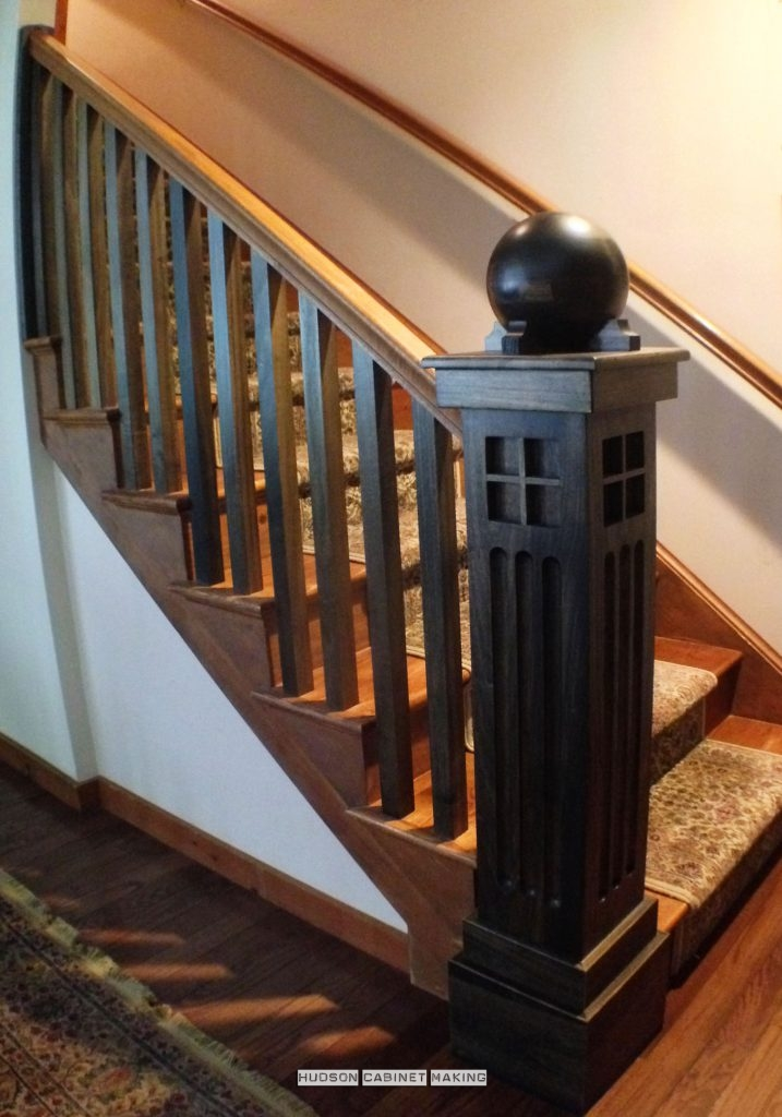 Mission Style / Arts & Crafts handrail post
