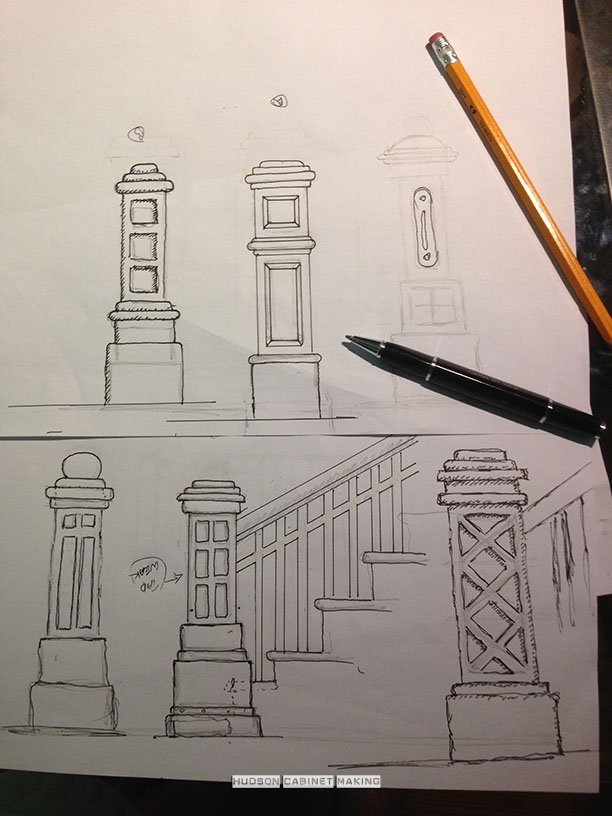 various newel post design s