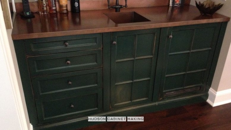 antique wet bar floor cabs