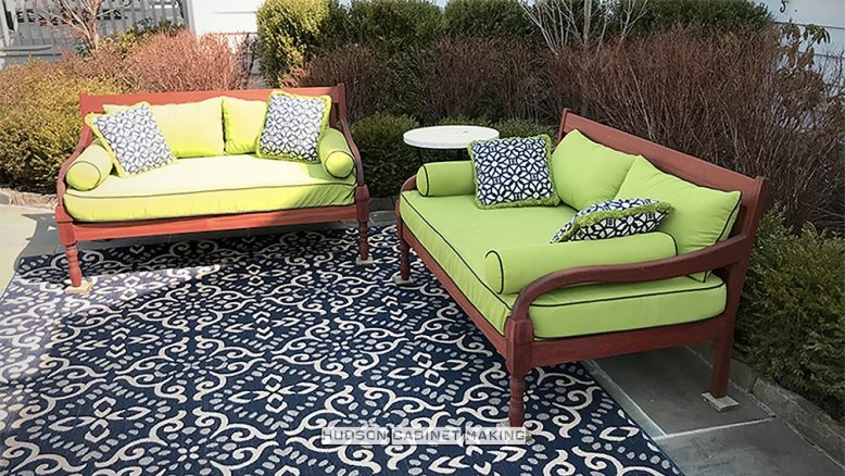 outdoor wood loveseats