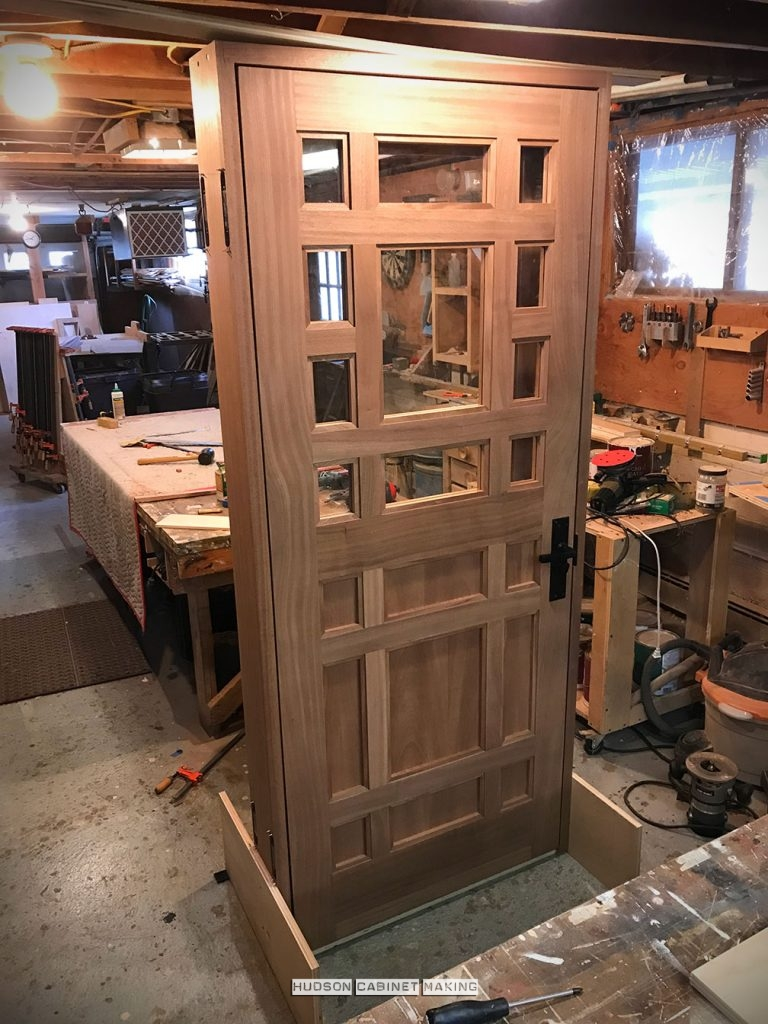 mahogany entry door with jamb